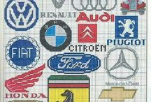 Cross stitch cars