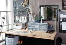 work space / by Vanessa Evigan