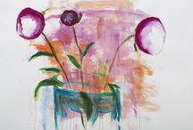 GROW INTO THE LIGHT - works on paper exploring our perception of flowers