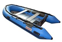 Inflatable Boat and Outboard Motor / ALEKO® Inflatable Boat with Aluminum Floor and Outboard Motor at Alekoproducts.com.