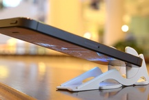 The Pocket Tripod / A wallet-size iPhone stand that allows for 360 degrees of controlled tilt adjustment, in both portrait and landscape.