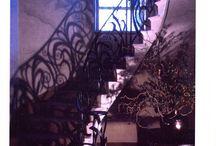 Spiral Balustrades / Pictures of two spiral balustrade which were designed and made by the blacksmiths of West Country Blacksmiths