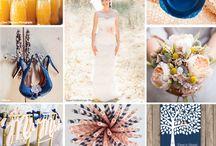 Navy Blue & Peach weddings