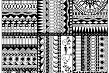 Patterns,Zentangles&Deco