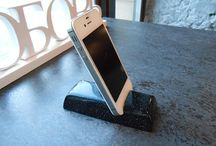 Stand for phone, holder for iPhone, stone