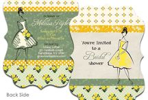 "Bridal shower / Bride to be thank you cards"" bridal shower invites, gift tags and cut products"