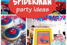 Spiderman / Spiderman themed birthday party ideas and cakes.