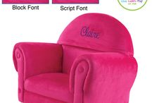 Personalized Upholstered Rockers and Chairs / Need some help decorating your Toddler's room? Shop our Kids Furniture Section. You will find beautiful, kid-friendly furnishings for every child's personality.