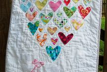 Charm quilts and fabric scraps