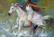 ασπρο αλογο με κοπελα