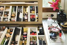 ● Organize |  Makeup & Cosmetics / #home #cosmetics #makeup #organize #vanity #beauty #dressingtable #dressing #table #storage / by TxTerri Tips