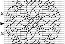 Blackwork charts / black work designs / by Carol M