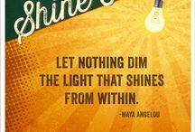 Shine on★☆★ / Love me or hate me, I'm still gonna shine☆ / by Kathi~