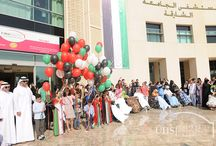 UHS Celebration on UAE National Day / University Hospital Sharjah (UHS) organised a celebration to commemorate Martyrs' Day, held on 30 November, and the 44th National Day of the United Arab Emirates, which takes place 2 December every year.