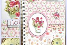 Decorated notebooks / Hardback notebooks which have been decorated by hand