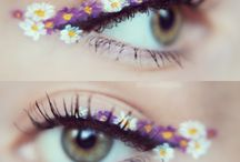 Eye Lashes / Eye lash extensions inspiration, care tips, tricks, ideas, and makeup with fake/false lashes.