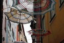 Yarn bombing / Street art crochet