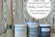 DecoArt Chalky paint / For us to learn from the best