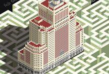 Infografia arquitectonica / Creadas con Adobe Illustrator