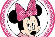 Mesversario Minnie rosa