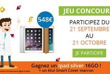 Grand jeu concours / Nouveau jeu concours : un Ipad silver 16Go et un étui smart cover marron à gagner
