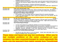 How to Transform a Resume - Part 4 / Original resume Prior Company section only, with comments.