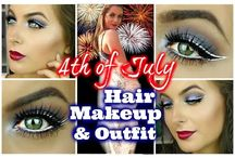 4th of July Makeup Ideas, Tips, and Tutorials / 4th of July Makeup Ideas, Tips, and Tutorials