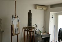 My art studio at Tei Area, Bucharest / Photos of my art studio that's located at Ghica Tei Boulevard.
