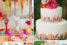 Gekleurde bruidstaarten