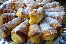 canutillos de hojaldre con crema y pastelera
