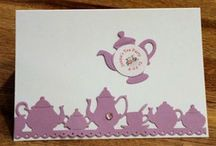 Tea Greeting Cards, Note Cards and Invitations / Tea themed greeting cards, note cards and invitations with tea cups and teapots.