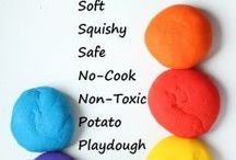 Play dough and slime recipes