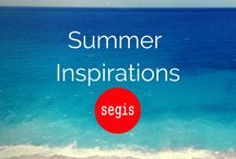 Summer inspirations | Segis / Life begins over again with the Summer, so get ready and find some new inspirations. Not only advices for outdoor projects, but good ideas with bright colors.