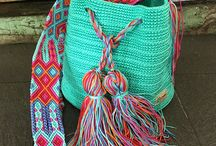 bolsos crochet (combinación de colores)
