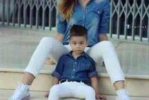 Vêtements mère et fils