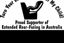 Car Stickers & Brochures / Websites and links to purchase car window signs, bumper stickers, rear-facing mirrors and brochures available to print and share to help promote rear-facing in Australia.