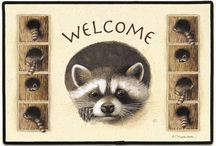 Doormats / Let folks learn about you as soon as they hit the front door! We have a wide selection of doormats ... funny, pets and more! Some of these are ours, some are others', all are great forms of self-expression.