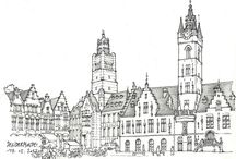 Architecture.Lineart.Old city. Basic.