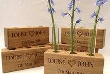 Wedding Gifts / Wedding gift ideas for your big day. All of these are examples of gifts that I have made for customers in the UK. Personalised with text, messages, your own handwriting or images (vector images or even your own hand-drawn sketches). All are made from the finest sustainably sourced oak available today. All the oak is a minimum of 115 years old. See what I can make for your unique day at https://buywoodengifts.co.uk/product-category/wedding-gifts/