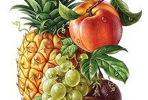 Divers fruits légumes et nature