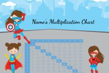 Multiplication Charts / Free printable multiplication charts that can be customized before you print.