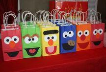 Canes Sesame Street theme birthday