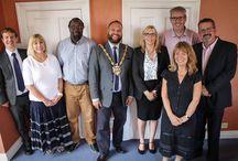 Mayor visit to Stepping Stones Community