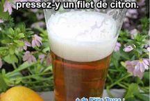 bière et citron