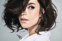 portrait painting psd