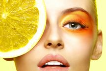 orange citrus makeup