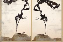 Fotocollages / Collages gemaakt van eigen bewerkte foto's, met de natuur als onderwerp.