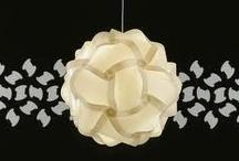 lámpara IQ intelligente para el hogar / Una lámpara que tiene hasta 22 variantes según la cantidad de piezas identicas de poliporpileno que tu usas, todo sin una sóla herramienta. La definición de creatividad y flexibilidad.