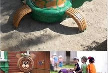 outdoor playground ideas / creative play for tamariki