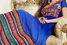Georgette Salwar Suit - kum-1039 / Long Anarkali in Georgette with thread embroidery